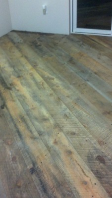 Clear epoxy coating over reclaimed barn board wood - Things to consider before installing epoxy flooring ...